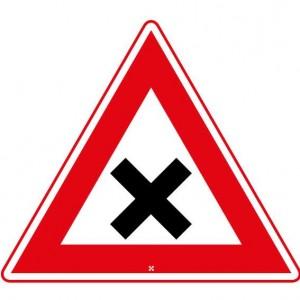 gevaarlijk kruispunt