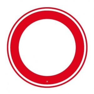 verboden in te rijden aan beide zijden van de weg
