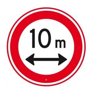 verboden in te rijden voor voertuigen langer dan 10 meter